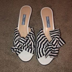 Prada heeled sandals. Never been worn!!!